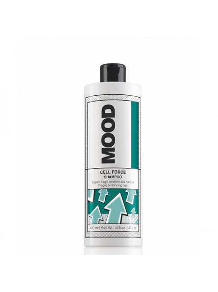 MOOD CELL FORCE šampūnas nuo plaukų slinkimo, 400 ml.