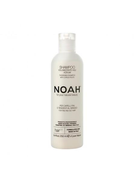 Noah 1.1 šampūnas besiriebaluojantiems plaukams, 250 ml.