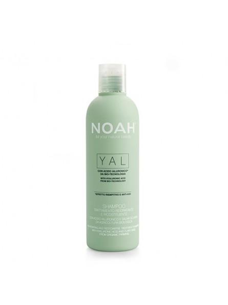 Noah YAL atkuriamasis drėkinantis šampūnas su hialurono rūgštimi ir šalaviju iš organinių ūkių, 250 ml.