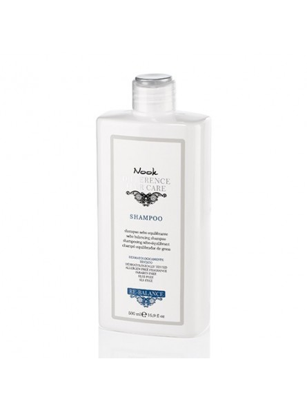 Nook RE-BALANCE šampūnas riebiai galvos odai, 500 ml.