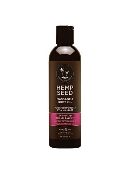 Hemp Seed masažinis kūno aliejus Skinny Dip, 237 ml.
