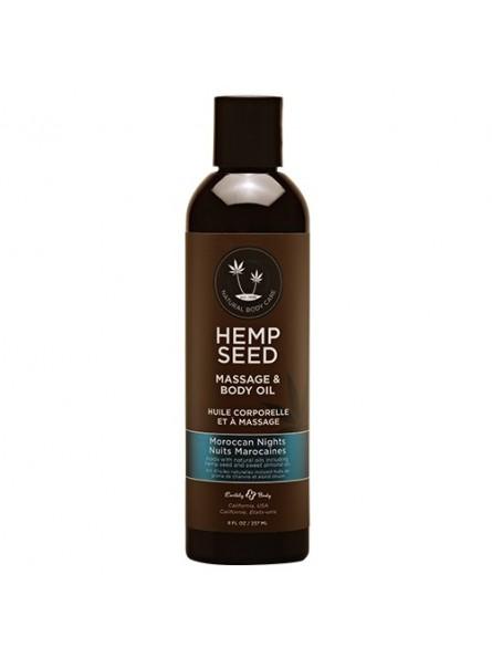 Hemp Seed masažinis kūno aliejus Moroccan Nights, 237 ml.