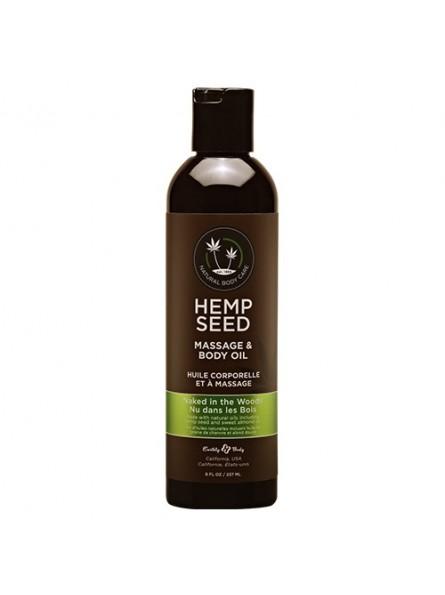 Hemp Seed masažinis kūno aliejus Naked in the Woods, 237 ml.