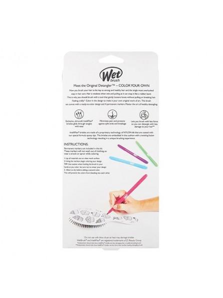 WETBRUSH COLOR YOUR OWN ovalus plaukų šepetys su flomasteriais Cupcake