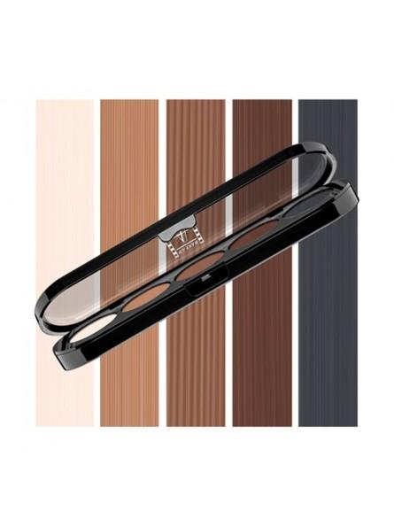 Make-Up Atelier Paris 5 spalvų akių šešėlių paletė, 10 g.