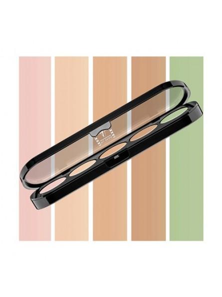 Make-Up Atelier Paris 5 spalvų kreminių korektorių paletė, 10 g.