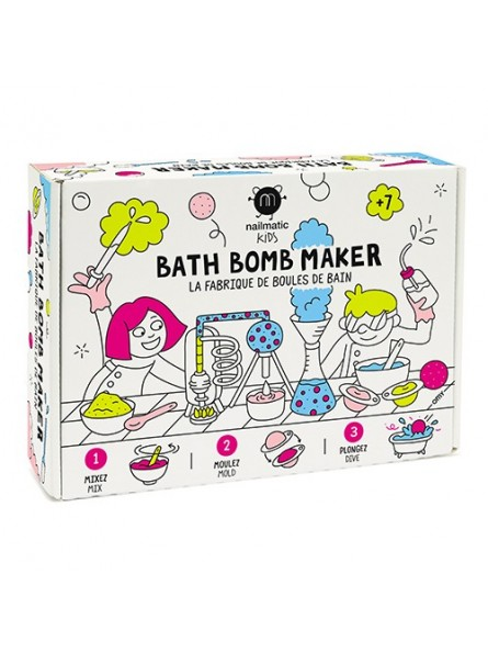Nailmatic KIDS BATH BOMB MAKER rinkinys vonios burbulų gaminimui
