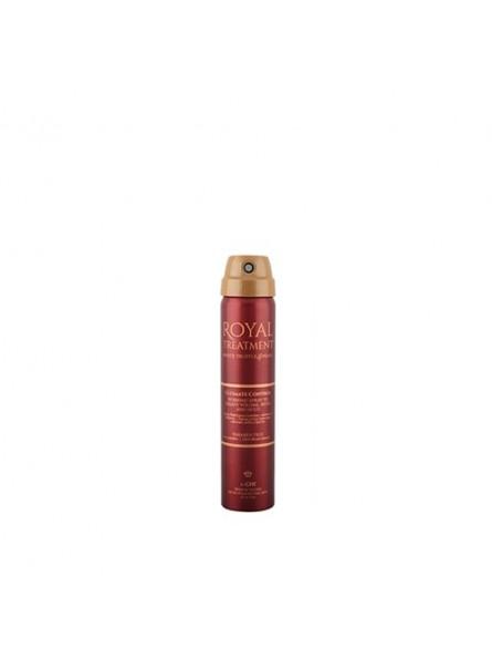 CHI FAROUK ROYAL TREATMENT ULTIMATE CONTROL greitai džiūstantis ir apimtį didinantis plaukų lakas, 74 g.