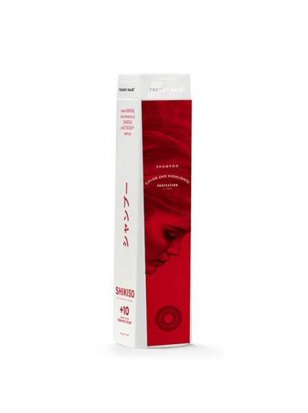 Trendy Hair BAIN SHIKISO šampūnas dažytiems ir šviesintiems plaukams su grynu keratinu ir ženšeniu