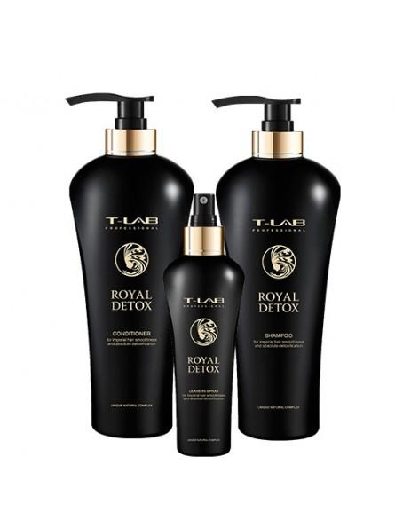 T-LAB ROYAL DETOX rinkinys (šampūnas, kondicionierius ir purškiklis)