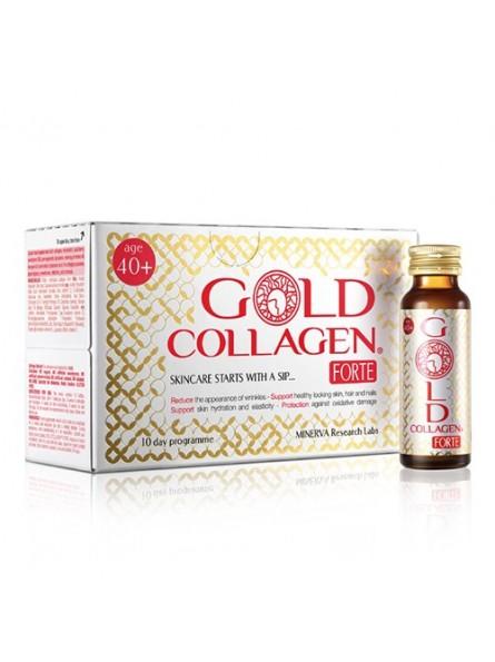 GOLD COLLAGEN FORTE geriamas kolagenas žmonėms nuo +40 metų, 10x50 ml.