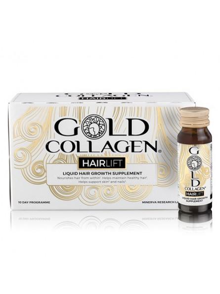 GOLD COLLAGEN HAIRLIFT geriamas kolagenas plaukams stiprinti, 10x30 ml.