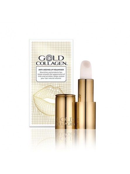 GOLD COLLAGEN putlinamasis ir senėjimą lėtinantis lūpų balzamas, 49 g.