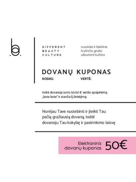 50 EUR elektroninis BOTE BOTE dovanų kuponas