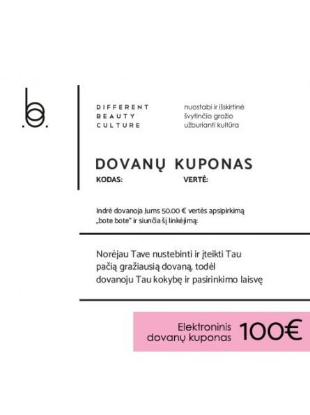 100 EUR elektroninis BOTE BOTE dovanų kuponas