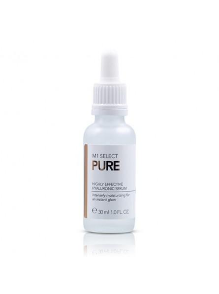 M1 Select PURE itin koncentruotas, drėkinamasis serumas su hialurono rūgštimi, 30 ml.