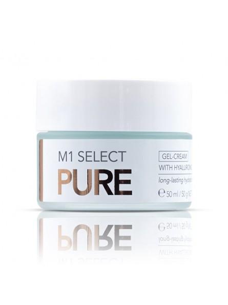 M1 Select PURE GEL-CREAM kremas su hialurono rūgštimi riebiai odai, 50 ml.