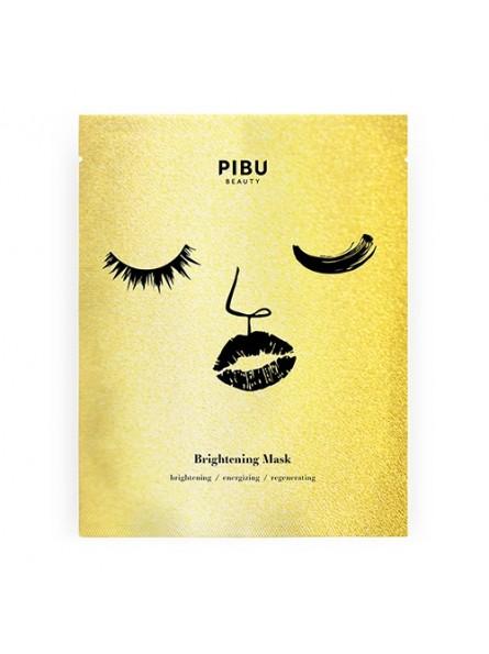 PIBU Beauty BRIGHTENING skaistinanti lakštinė veido kaukė, 1 vnt.