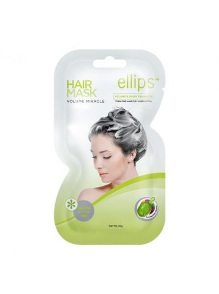 Ellips VOLUME MIRACLE apimties plaukams suteikianti kaukė, 18 g.