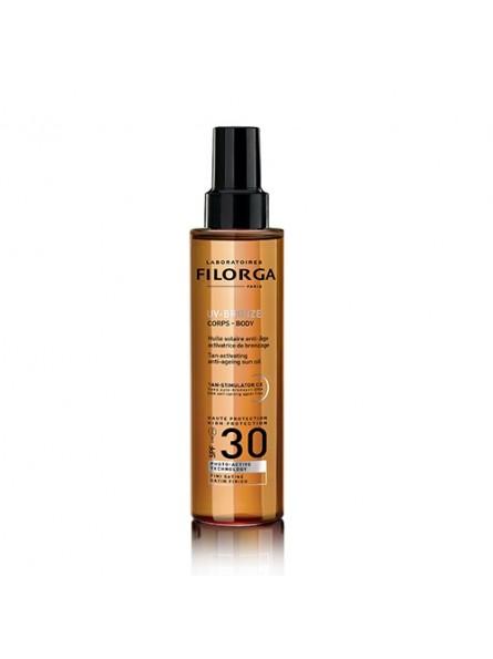 Filorga UV-BRONZE BODY SPF30 įdegį skatinantis, apsauginis purškiamas aliejus, 150 ml.