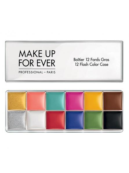 Make Up For Ever 12 FLASH COLOR CASE daugiafunkcinė veido ir kūno dažų paletė, 70 g.
