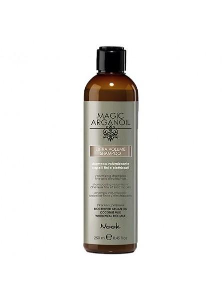 NOOK MAGIC ARGANOIL EXTRA VOLUME apimties suteikiantis šampūnas ploniems, nualintiems plaukams, 250 ml.