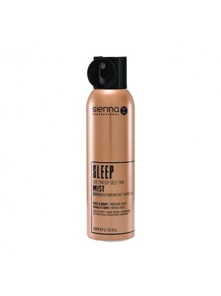 Sienna-X SLEEP SELF TAN TINTED MIST naktinė savaiminio įdegio dulksna su Q10, 200 ml.