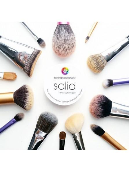 BeautyBlender SOLID makiažo kempinėlių ir teptukų muiliukas, 28 g.