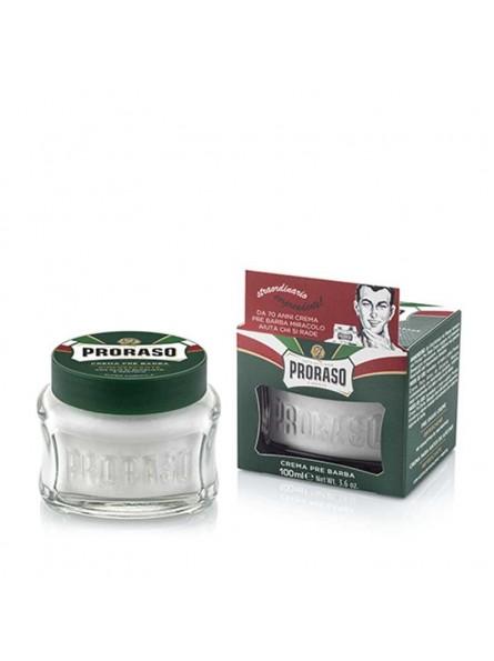 Proraso GREEN LINE PRE-SHAVE CREAM gaivinantis kremas prieš skutimąsi, 100 ml.