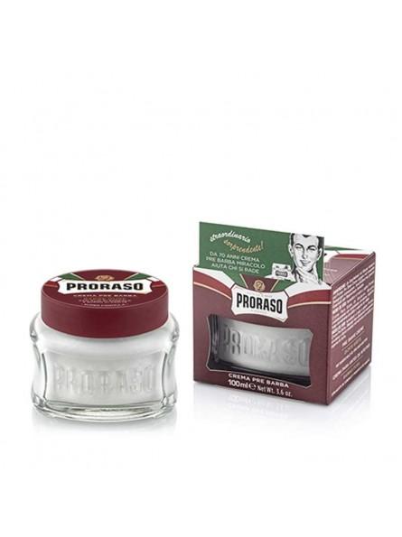 Proraso RED LINE PRE-SHAVE CREAM maitinamasis kremas prieš skutimąsi, 100 ml.