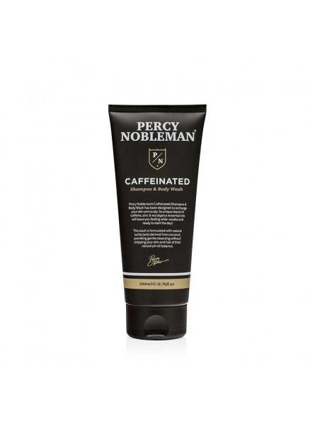 Percy Nobleman COFFEINATED SHAMPOO AND BODY WASH vyriškas šampūnas ir kūno prausiklis su kofeinu, 200 ml.