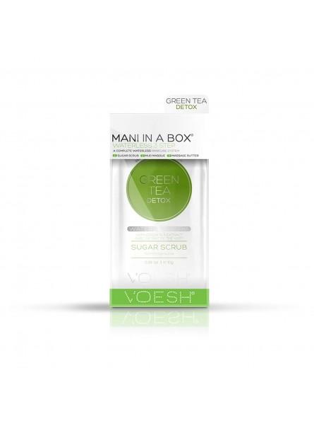 Voesh WATERLESS MANI IN A BOX 3IN1 GREEN TEA DETOX detoksikuojanti procedūra rankoms su žaliosios arbatos ekstraktais, 1 vnt.