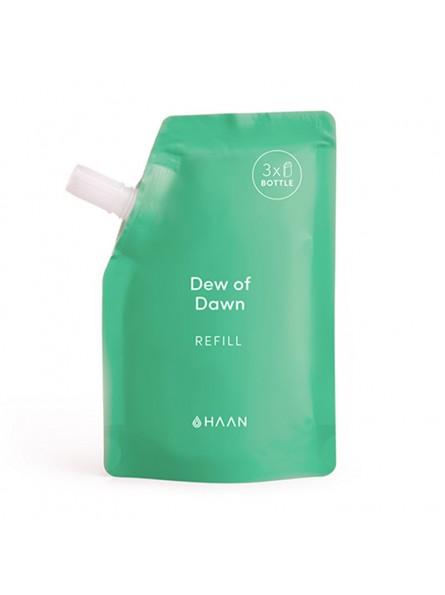 HAAN DEW OF DOWN drėkinančio rankų dezinfekcinio skysčio papildymas, 100 ml.