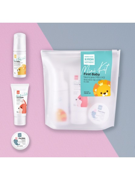 K-MOM FIRST BABY SKINCARE MINI KIT kelioninis kūno priežiūros rinkinys (3 produktai)
