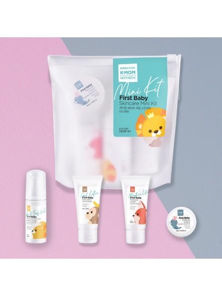 K-MOM FIRST BABY SKINCARE MINI KIT kelioninis kūno priežiūros rinkinys (4 produktai)