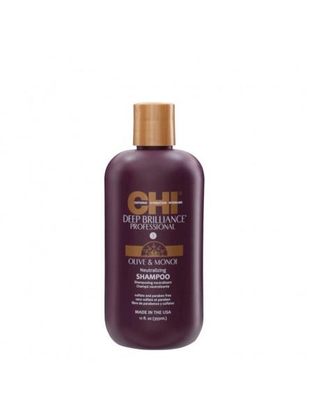 CHI Deep Brilliance šampūnas su alyvuogių ir Monoi aliejais 355ml