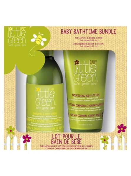 Little Green BABY BATHTIME BUNDLE plaukų ir kūno priežiūros priemonių rinkinys kūdikiams
